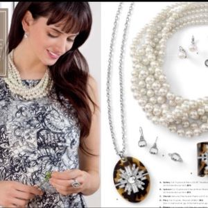 Lia Sophia Pearl Necklace With Extender